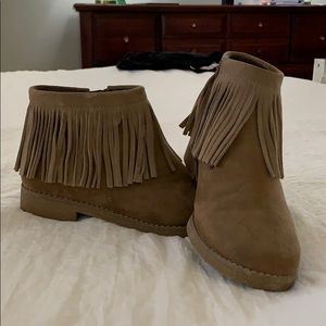 Mossimo fringe ankle boots